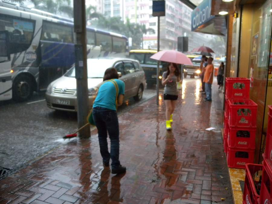 more rain in Wanchai