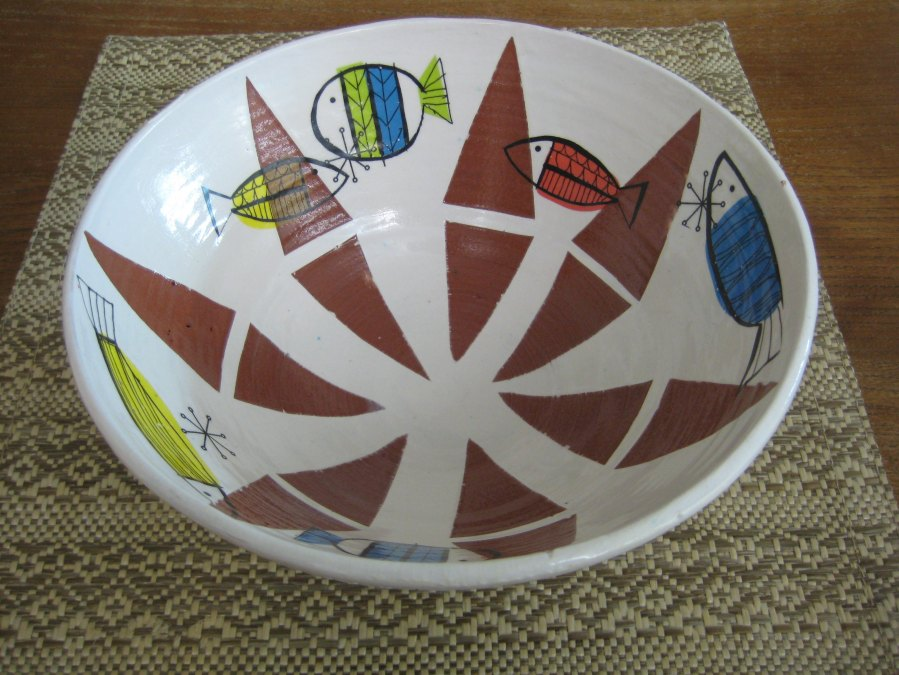 earthenware bowl [made by me] with open stock decals