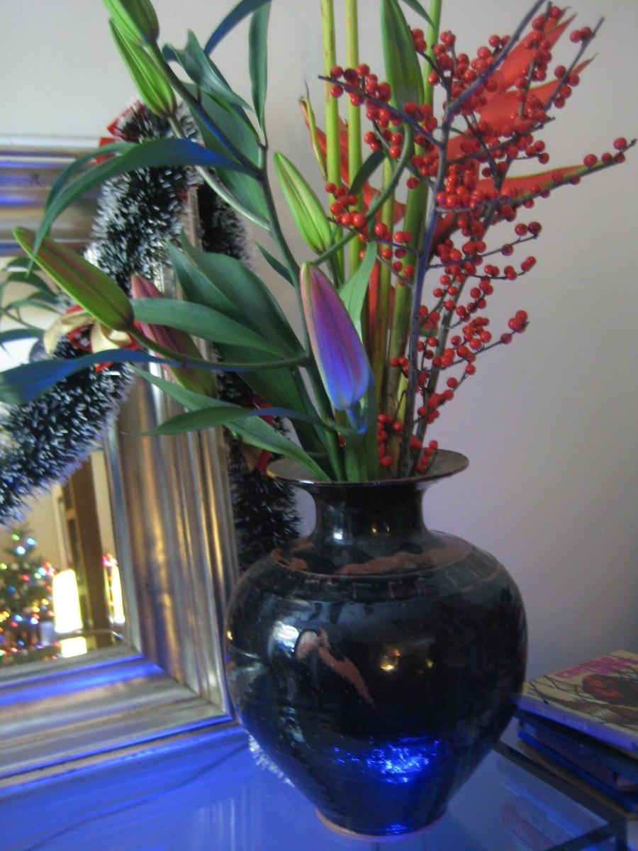 festive flowers from Wan Chai market stall