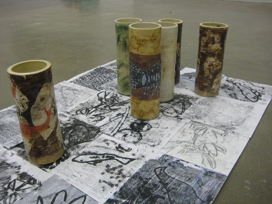 "my ""five vessels"" installation with the sixth vessel to inspire work for the next five years..."