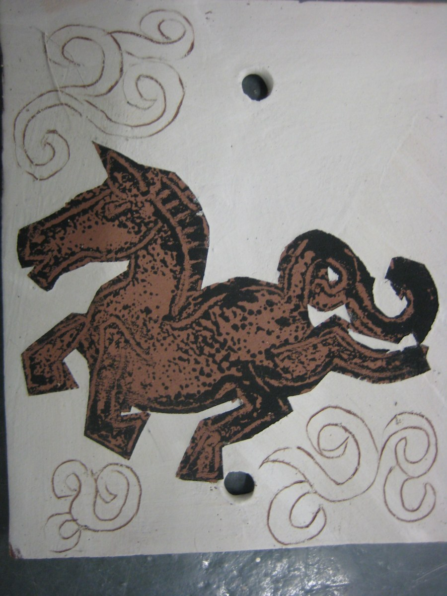 horse print inspired by Wan Chai jade stall