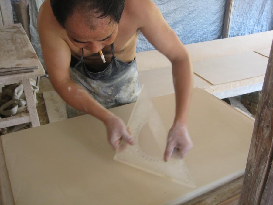 making tiles, cigarette essential