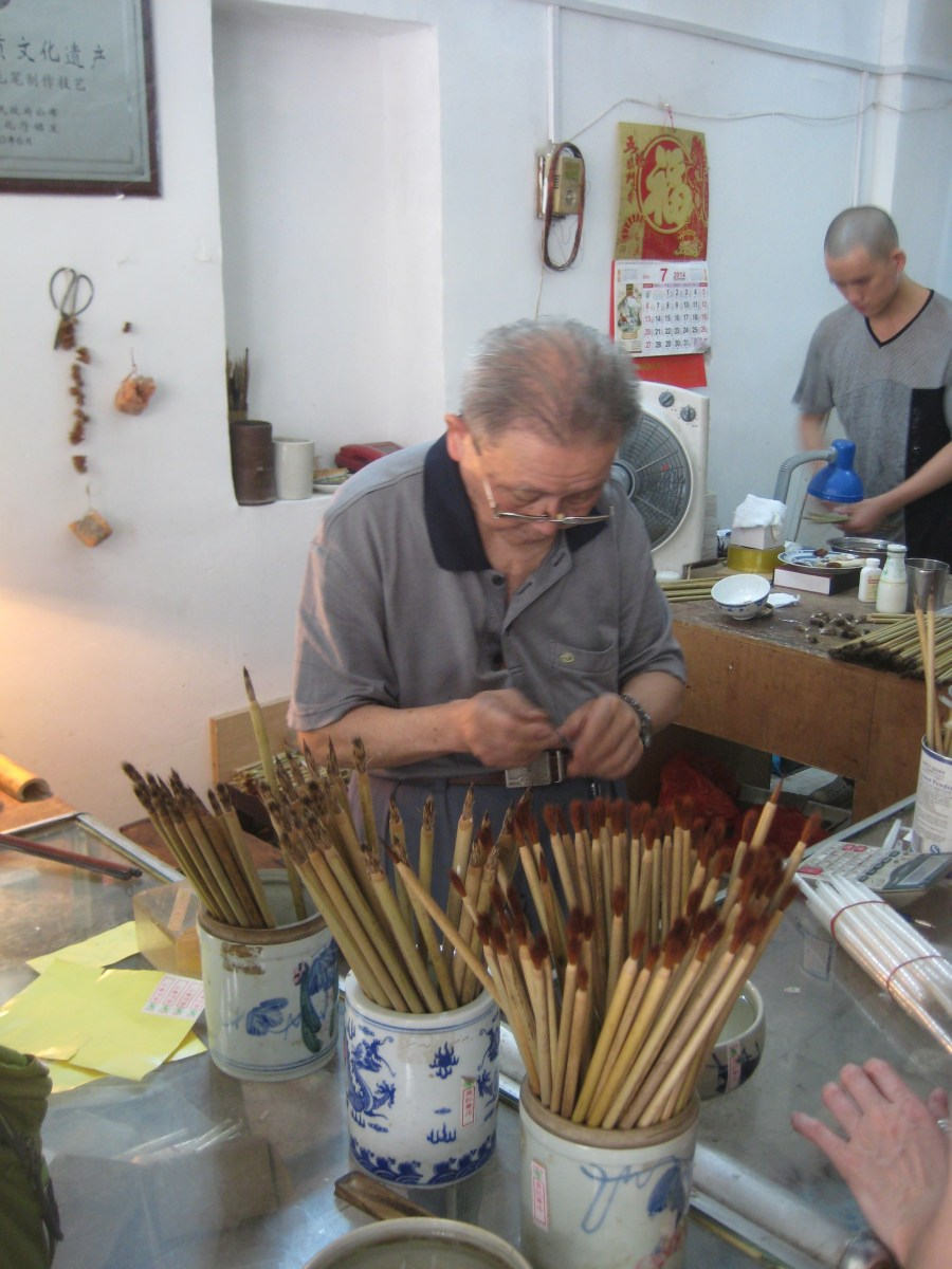 the brush shop owner and inspector of brushes, another revered expert