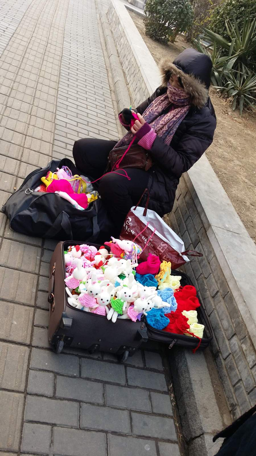 street crochet outside or apartment